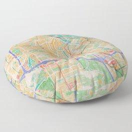 Amsterdam in Watercolor Floor Pillow