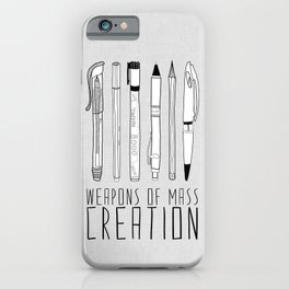 weapons of mass creation iPhone Case