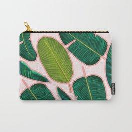 Banana Leaf Blush #society6 #decor #buyart Carry-All Pouch