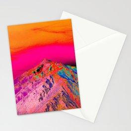 California's Sierra Mts-Digital Art, Pink & Orange Stationery Cards