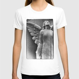 Female Angel Looking Upwards #faith #Christmas T-shirt