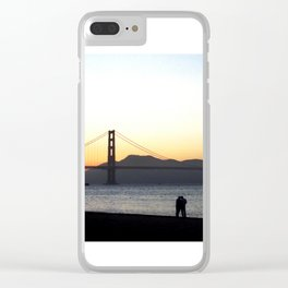 Enjoying The Sunset Clear iPhone Case