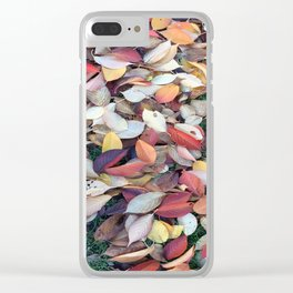 Leaves of many colors Clear iPhone Case
