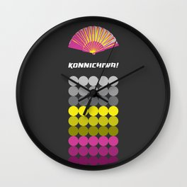 Konnichiwa 1 Wall Clock
