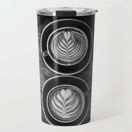 Coffees (Black and White) Travel Mug