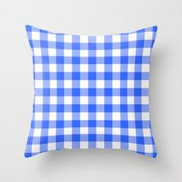Check Pattern - blue Throw Pillow