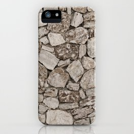 Old Rustic Stone Wall iPhone Case