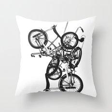 Bike Chaos Throw Pillow