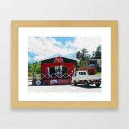 Seaside Bar Framed Art Print