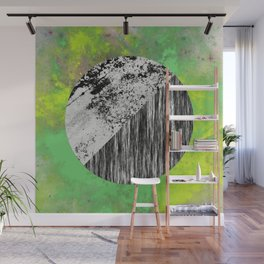 Devoid of Colour - Abstract, geometric, black and white, colour art Wall Mural