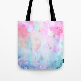 Watercolor Abstract pink Forest Tote Bag