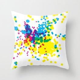 Splatter 1 Throw Pillow