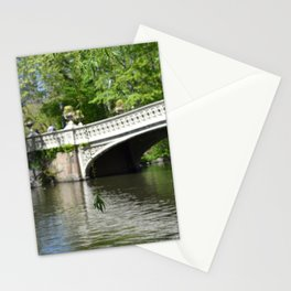 Bow Bridge in Springtime Stationery Cards