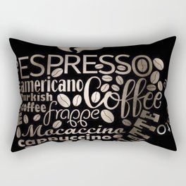 Espresso Typography Rectangular Pillow