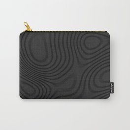 Organic Abstract 01 BLACK Carry-All Pouch