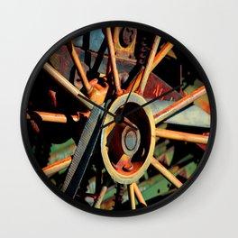 Color Tractor Wheel Wall Clock