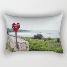 Lovers Wall Rectangular Pillow