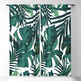 Tropical Jungle Leaves Pattern #1 #tropical #decor #art #society6 Blackout Curtain