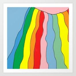 Brazil Girl Skirt Rainbow Art Print