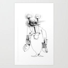 Lobster Man Art Print