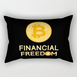 Financial Freedom Bitcoin BTC Investing Rectangular Pillow
