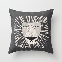 Friendly Lion Throw Pillow