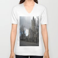 dublin V-neck T-shirts featuring Dublin by Ganeswar Sahoo