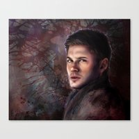 dean winchester Canvas Prints featuring Dean Winchester by Jackie Sullivan