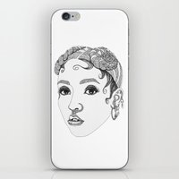 fka twigs iPhone & iPod Skins featuring FKA Twigs by LaraLindsassy