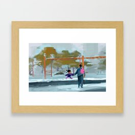 Me and Dad Framed Art Print