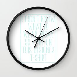 Designer T-Shirt Wall Clock