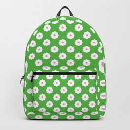 60s Ditsy Daisy Floral in Electric Apple Green Backpack