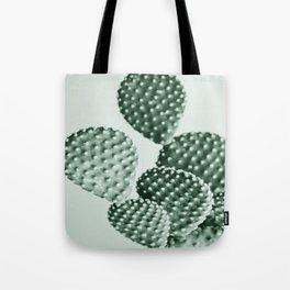 Green Bunny Ears Cactus  Tote Bag