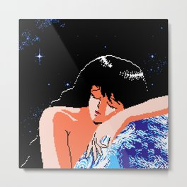 The Girl of Cosmos Metal Print