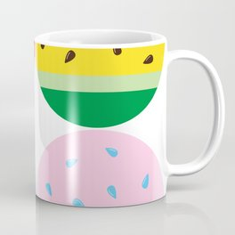 Watermelon in Fours | Watermelon Seed | Watermelon Home Decor | pulps of wood Coffee Mug