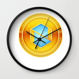 Netbox Cryptocurrency Design Wall Clock