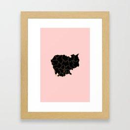 Cambodia map Framed Art Print