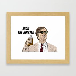 Jack the Hipster Framed Art Print