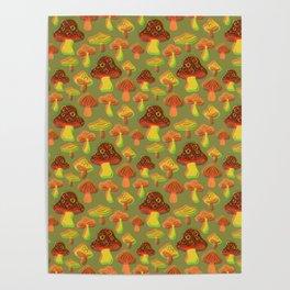 Mushroom Print in 3D Poster