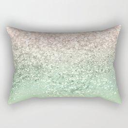 Blush Glitter Dream #3 #shiny #decor #art #society6 Rectangular Pillow
