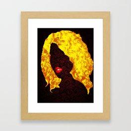 Cherry Lips and Golden Curls Framed Art Print