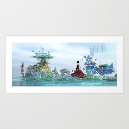 Arrivng at the city of paradise Art Print