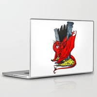 smaug Laptop & iPad Skins featuring Smaug the Stupendous by Lydia Joy Palmer