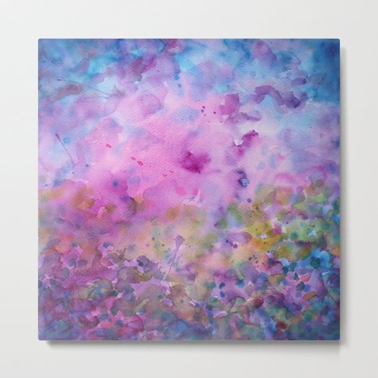 Purple Mystical Spring Metal Print