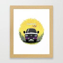 T3 Camper Life Violeta Framed Art Print