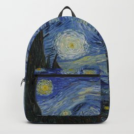 Starry Night by Dutch Post-Impressionist Painter Vincent Van Gogh Backpack