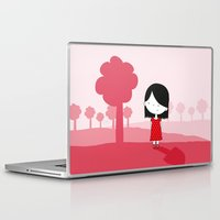 polkadot Laptop & iPad Skins featuring Polkadot Dress by ankepankedesign