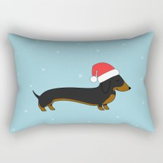 Santa Dachshund Rectangular Pillow