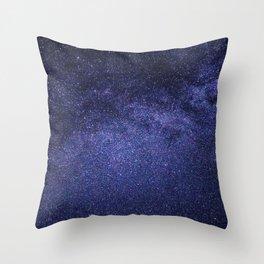 night stars-milky way Throw Pillow