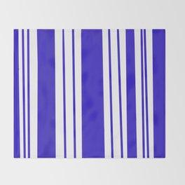 Royal Blue Stripes Throw Blanket